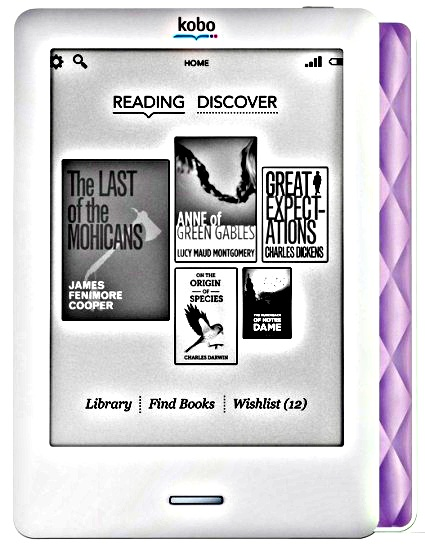 Kobo Touch in Lilac