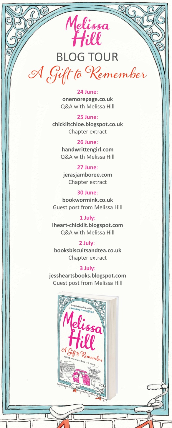 Blogger Tour graphic Melissa Hill